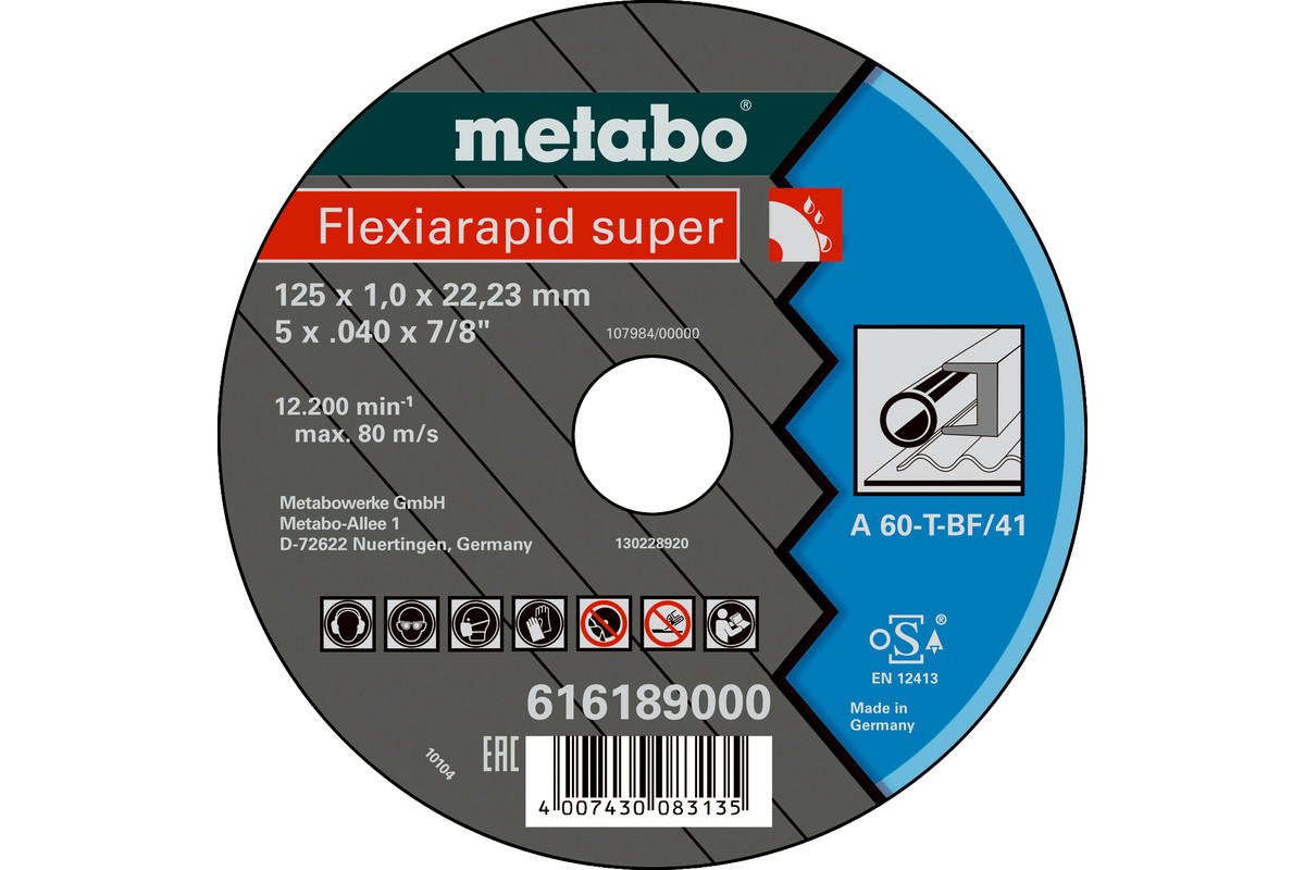 Flexiamant super 125x1,0x22,23 Stahl, TF 41 (616189000)