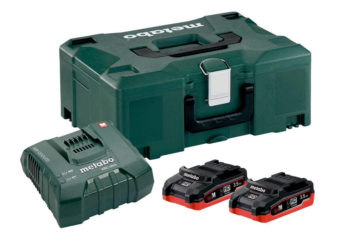 Basis-Set 2 x LiHD 3.5 Ah + ASC Ultra + Metaloc (685102000)