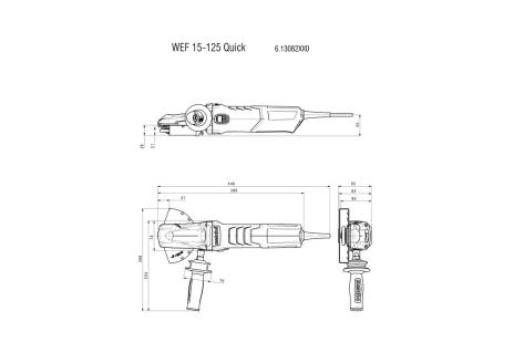 WEF 15-125 Quick (613082000) Flachkopf-Winkelschleifer