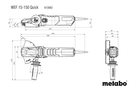 WEF 15-150 Quick (613083000) Flachkopf-Winkelschleifer
