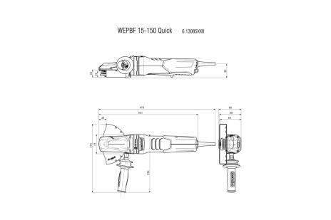 WEPBF 15-150 Quick (613085000) Flachkopf-Winkelschleifer