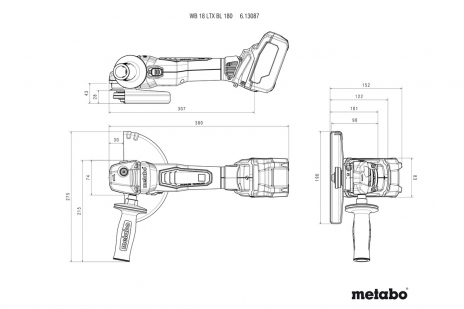 WB 18 LTX BL 180 (613087840) Akku-Winkelschleifer