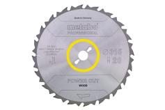 "Sägeblatt ""power cut wood - professional"", 254x30, Z24 WZ 20° (628025000)"