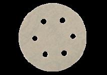 Hook and loop sanding sheets Ø 80 mm, 6 holes