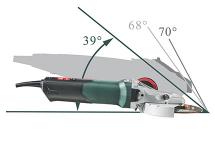 Flat-head angle grinders