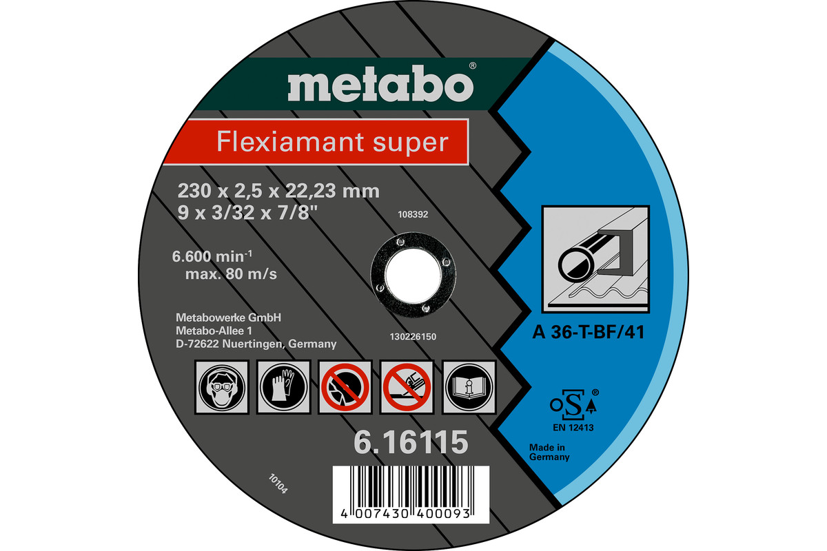 Flexiamant super 230x2.5x22.23 steel, TF 42 (616103000)