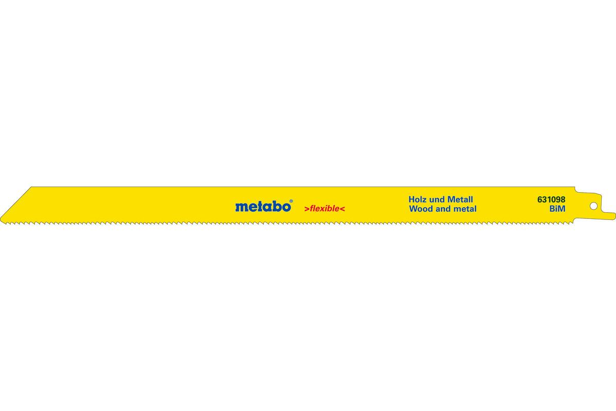 2 Sabre saw blades,W+M,flexible, 300 x 0.9 mm (631098000)