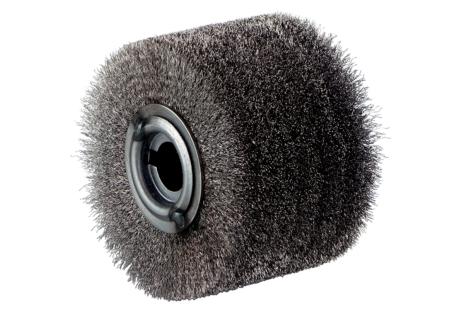 Steel-wire wheel brush, inox, 100 x 70 mm (623503000)