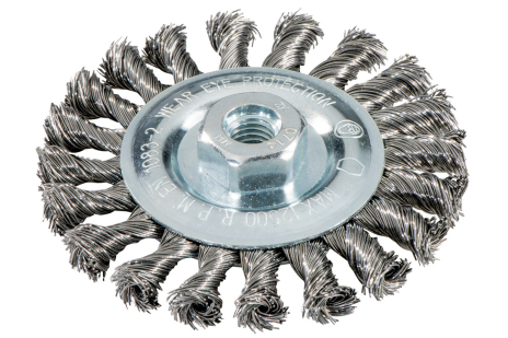 Wheel brush 125x0.5x10 mm/ M 14, steel-wire, twisted (626771000)