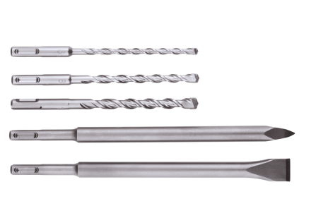 SDS-plus drill bit / chisel set , 5 pieces (630477000)