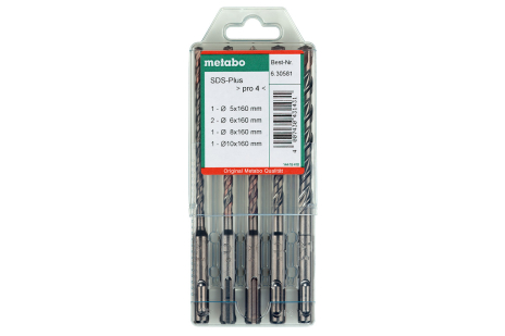 SDS-plus Pro 4 drill bit set, 5 pieces (630581000)