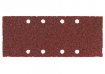 Feuilles abrasives 93 x 230 mm, 8 trous, pour fixation par pince