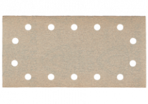 Feuilles abrasives auto-agrippantes 115 x 230 mm, 14 trous, à fixation auto-agrippante