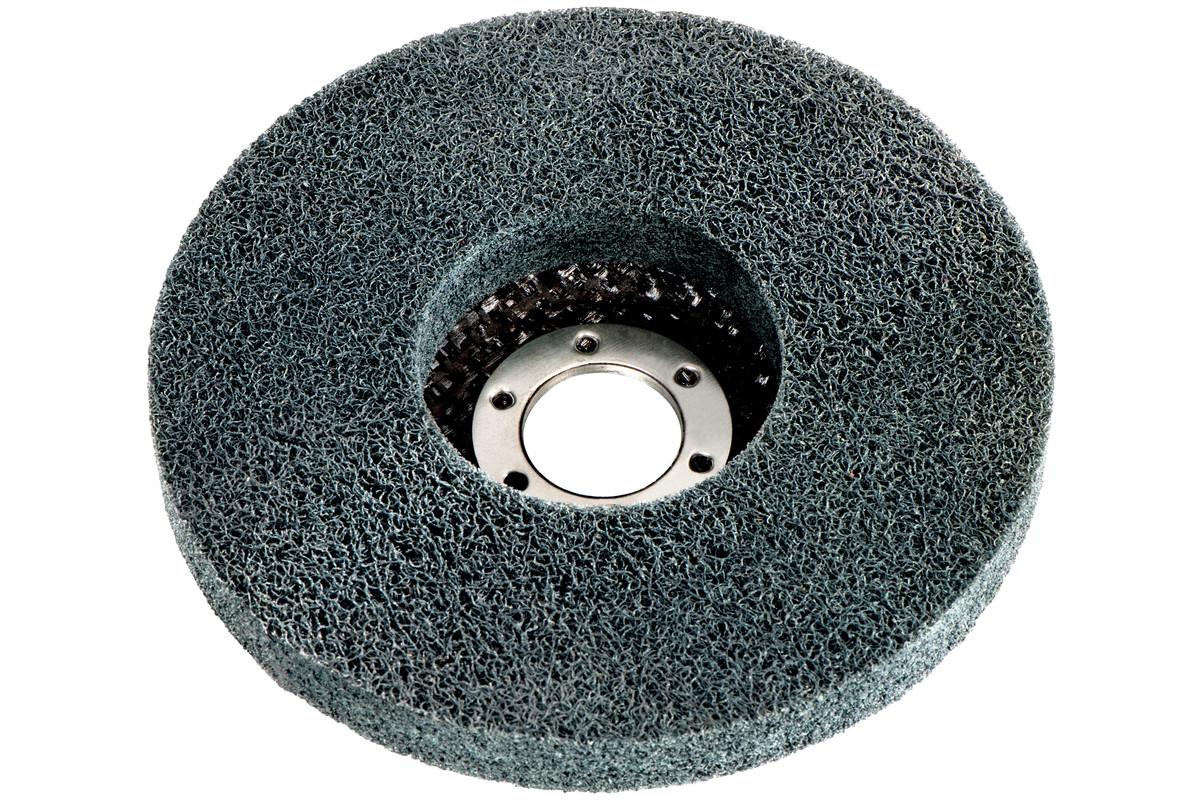 5 x plateau abrasif compact en fibres «Unitized» 125x22,23mm, pour meuleuse d'angle (626417000)