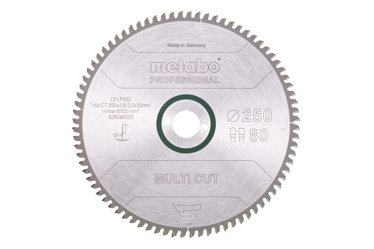 Lame de scie circulaire HW/CT 250 x 30, 80 FZ/TZ, 5° nég. (628088000)