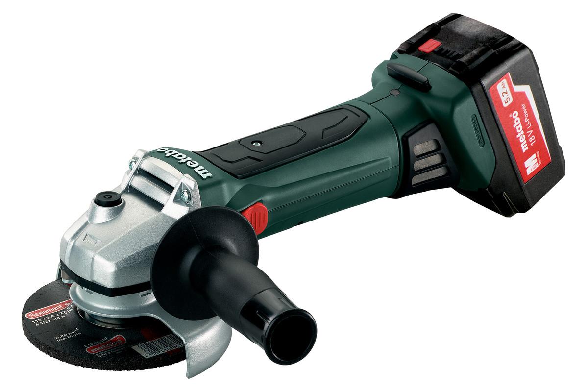 W 18 LTX 125 Quick (602174650) Accu-haakse slijper
