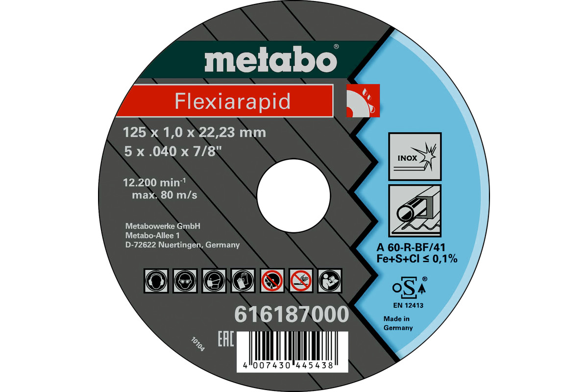 Flexiarapid 12 5 x1,0 x 22,23 inox, TF 41 (616187000)
