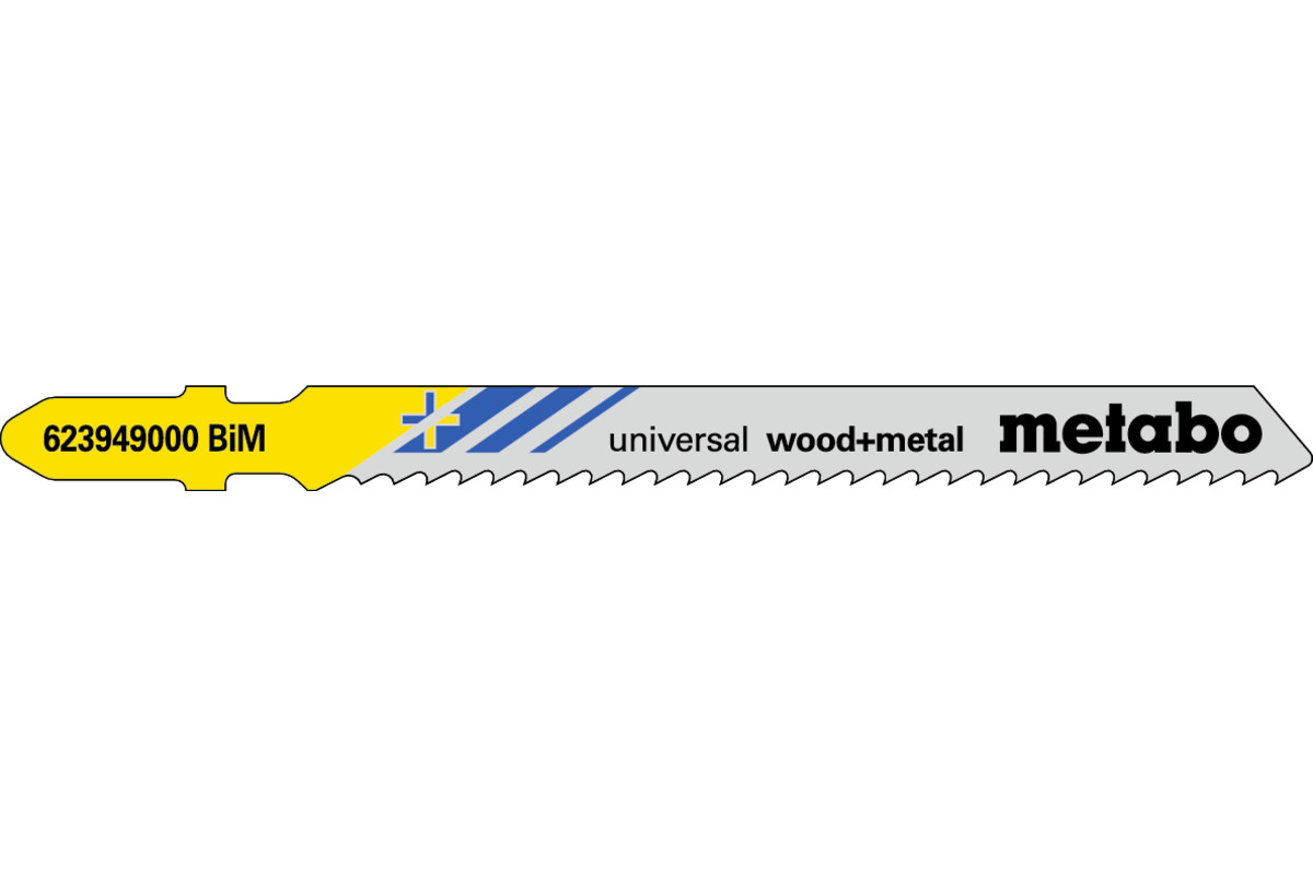 5 lames de scie sauteuse « universal wood + metal » 90/ 2,5 mm (623949000)