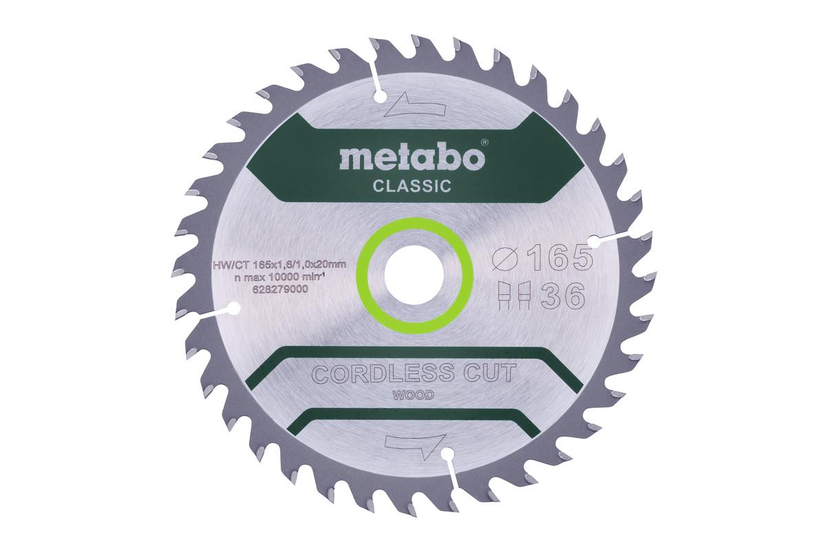 """Zaagblad """"cordless cut wood - classic"""", 165x20 Z36 WZ 15° (628279000)"""