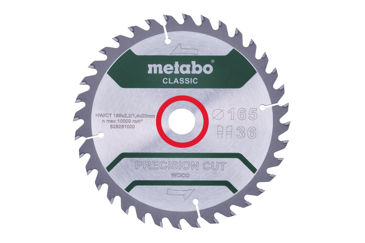 """Zaagblad """"precision cut wood - classic"""""""", 165x20 Z36 WZ 15° (628281000)"""