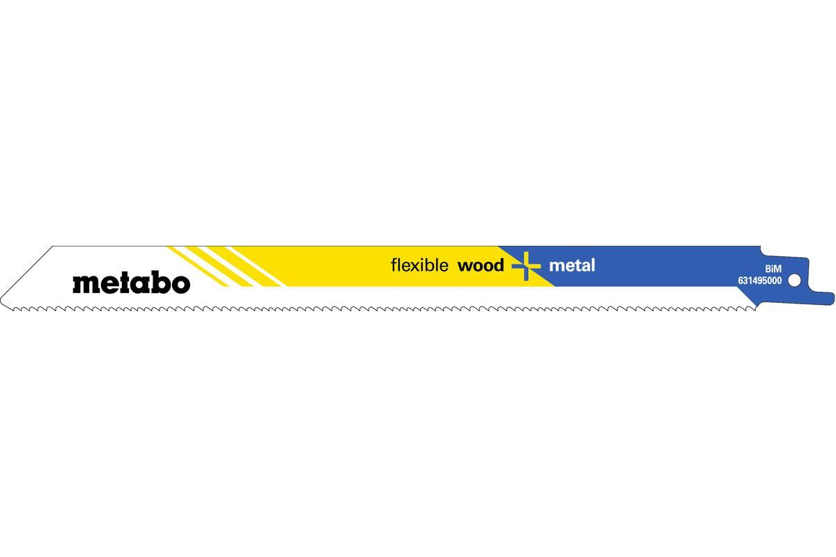 "5 reciprozaagbladen ""flexible wood + metal"" 225 x 0,9 mm (631495000)"