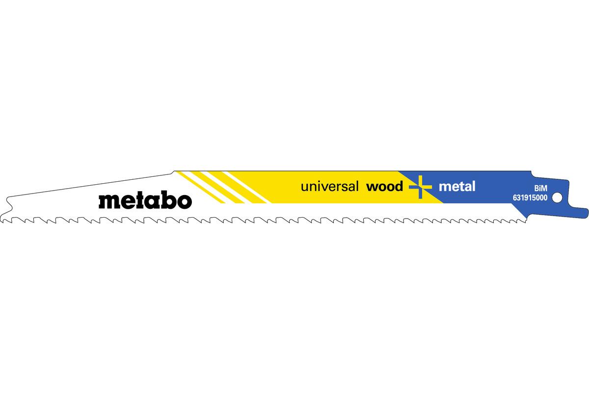 "5 reciprozaagbladen ""universal wood + metal"" 200 x 1,25 mm (631915000)"