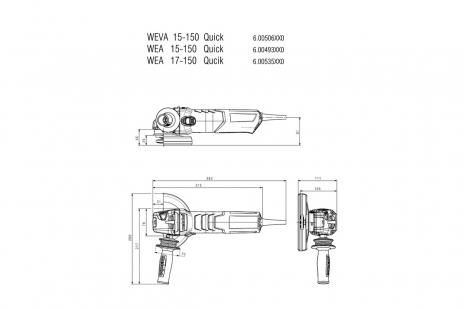 WEVA 15-150 Quick (600506000) Haakse slijper