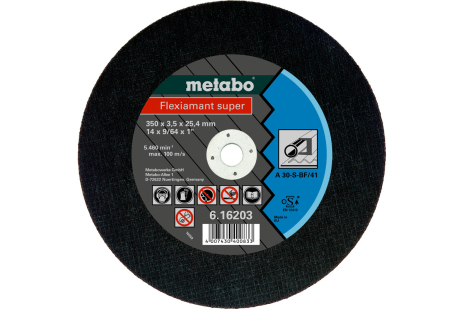 Flexiamant super 350x3,5x25,4 staal, TF 41 (616203000)