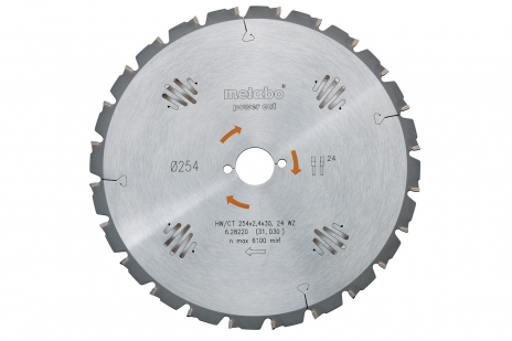 Cirkelzaagblad HW/CT 250x30, 24 WZ 25° (628012000)