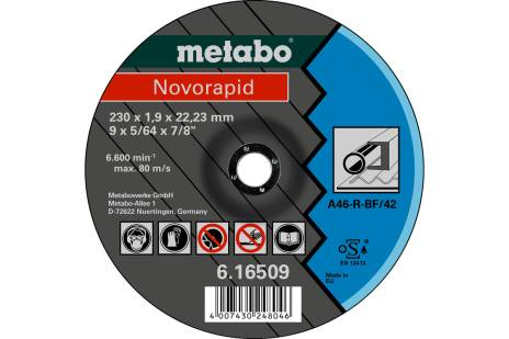 Novorapid 230 x 1,9 x 22,23 mm, staal, TF 42 (616509000)