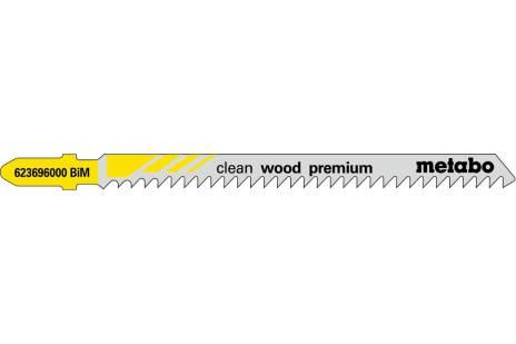 5 lames de scie sauteuse « clean wood premium » 91/ 3,0 mm (623696000)