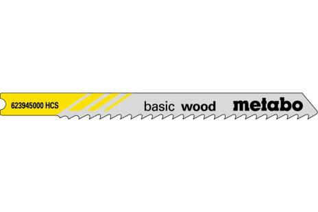 "5 U-decoupeerzaagbladen ""basic wood"" 74/3,0 mm (623945000)"