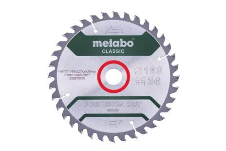 """Zaagblad """"precision cut wood - classic"""", 160x20 Z36 WZ 10° (628278000)"""