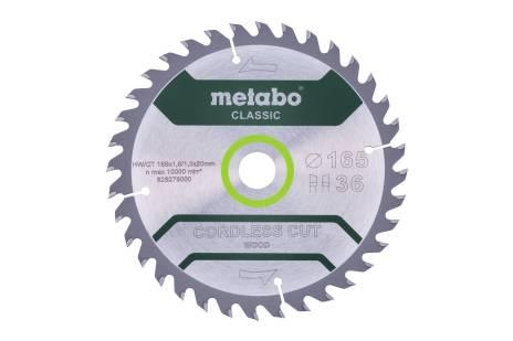 """Zaagblad """"cordless cut wood - classic"""", 165x20 Z18 WZ 20° (628272000)"""