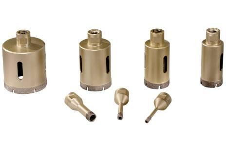 """Tegel-diamantboorkronen-set """"Dry"""", 7-delig, M14 (628317000)"""
