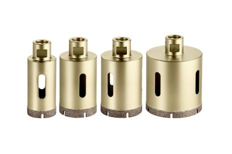 """Tegel-diamantboorkronen-set """"Dry"""", 4-delig, M14 (628319000)"""