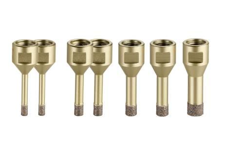 """Tegel-diamantboorkronen-set """"Dry"""", 7-delig, M14 (628321000)"""
