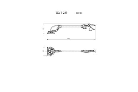 LSV 5-225 (600103000) Ponceuses à bras