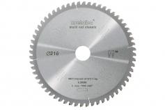Cirkelzaagblad HW/CT 216x30, 60 FZ/TZ, 5° neg. (628066000)