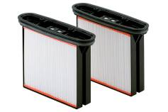 2 cassettes de filtres, polyester, nano-revêtement, classe de poussière M (631894000)