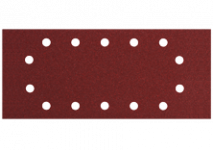 Fogli abrasivi, 115 x 280 mm, 14 fori, da tendere