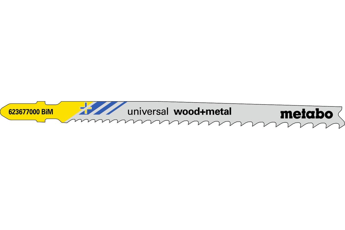 5 lame per seghetti alternativi, legno + metallo, 106 mm/progr. (623677000)