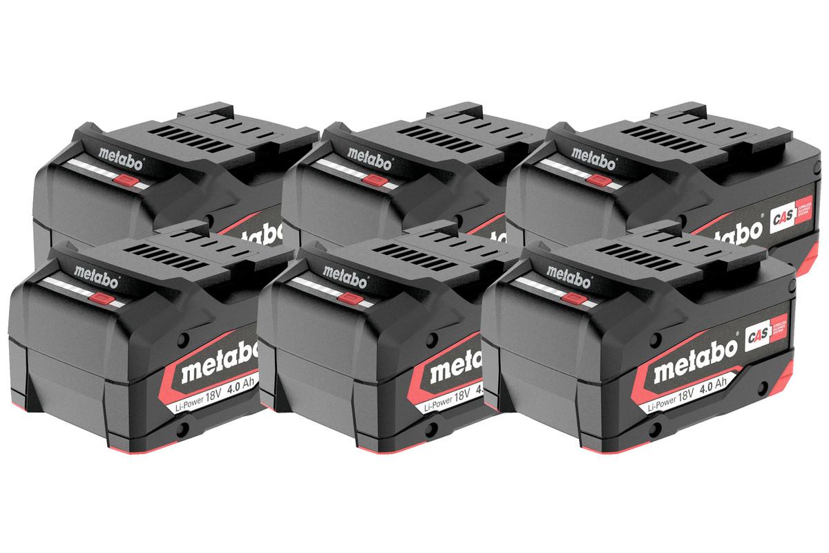 Set de 6 x batteries Li-Power 18 V/4,0 Ah (625151000)