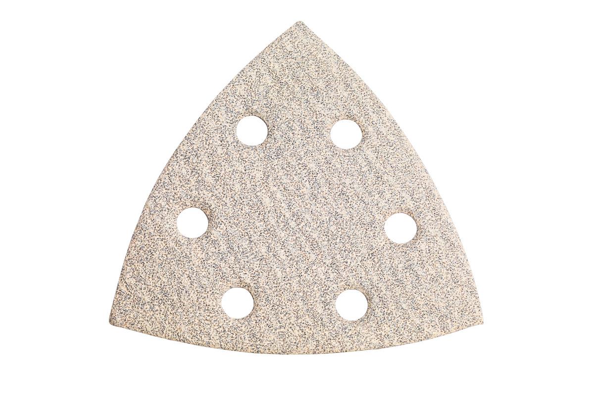 25 feuilles abrasives auto-agrippantes 93 x 93 mm, P 80, peinture, pour ponceuse à patin triangulaire (625683000)