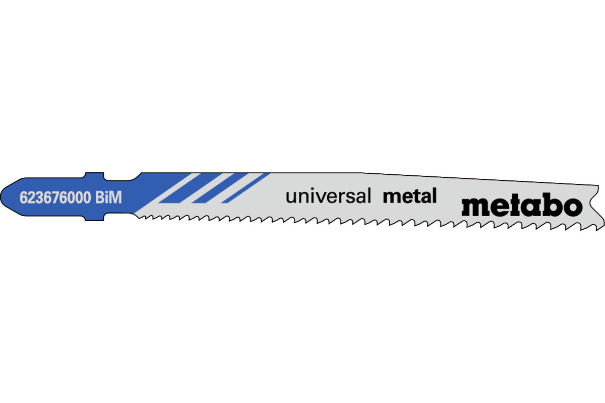 25 lames de scie sauteuse « universal metal » 74mm/progr. (623620000)