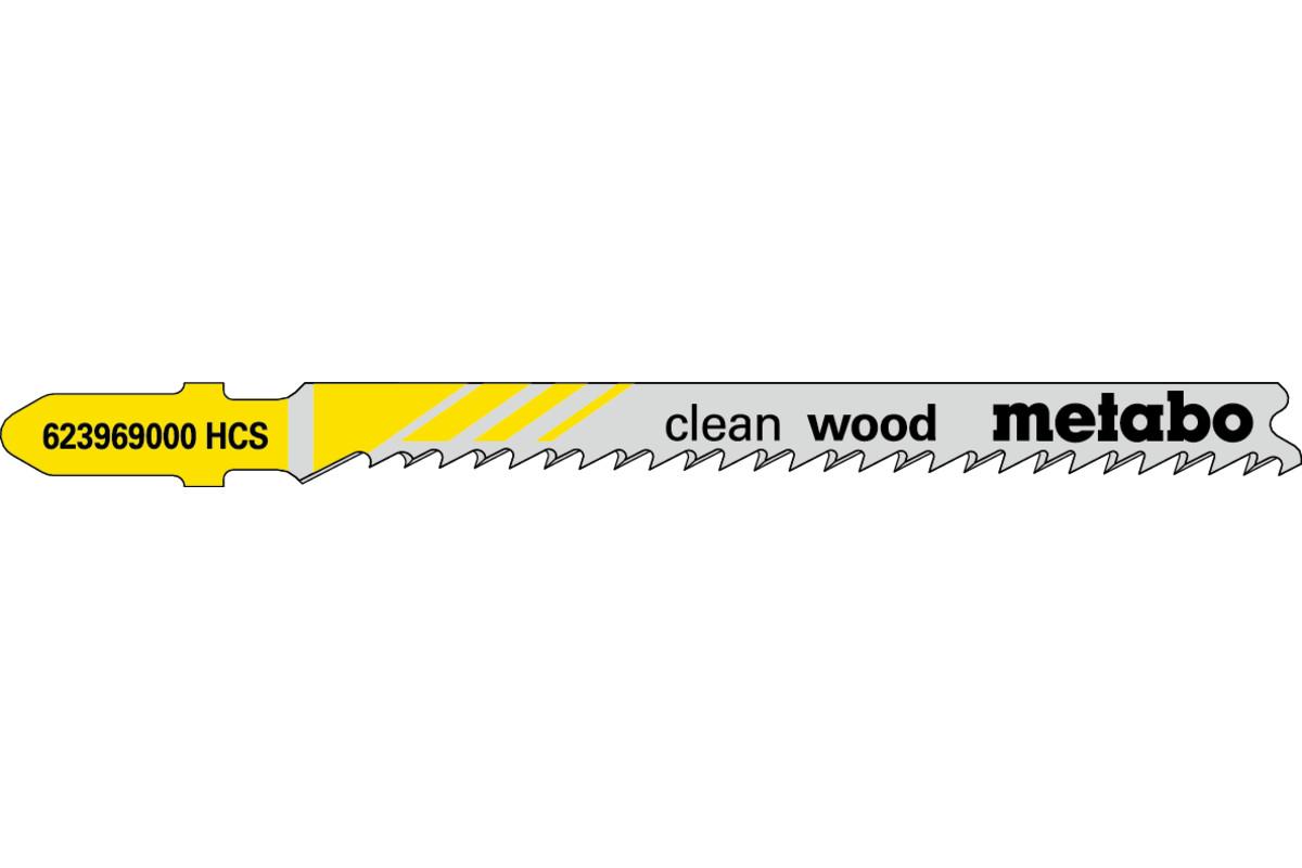 5 lames de scie sauteuse « clean wood » 74/ 2,7 mm (623969000)