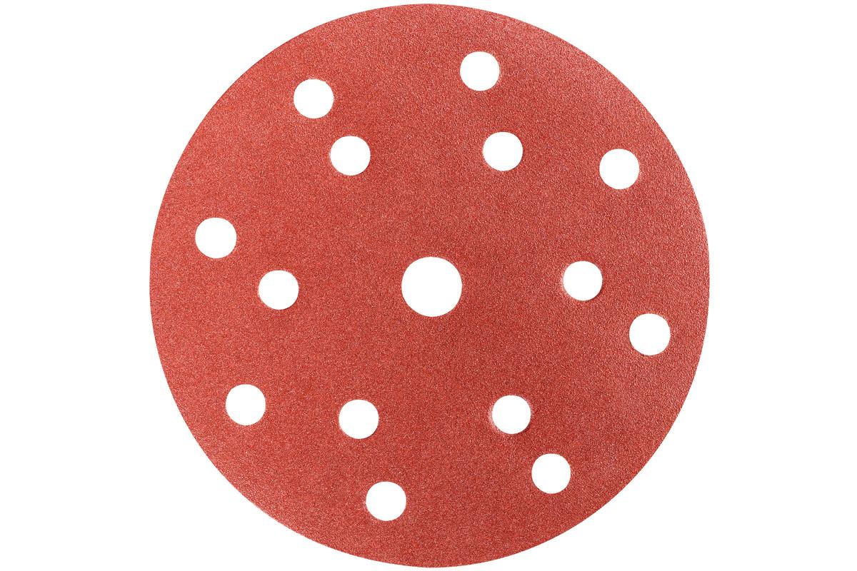 50 feuilles abrasives auto-agrippantes 150 mm, P100, B + M, « multi-hole » (626677000)