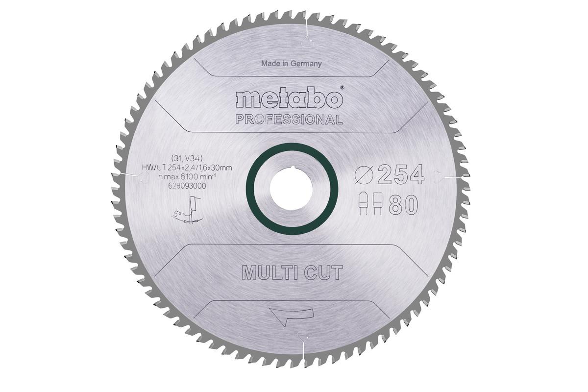 Lame de scie « multi cut - professional », 254x30, Z80 FZ/TZ, 5° (628093000)