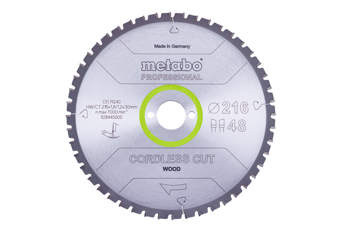 Lame de scie « cordless cut wood - professional », 216x30 Z28 WZ 5°neg (628444000)