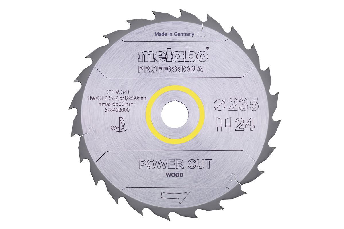 "Sägeblatt ""power cut wood - professional"", 235x30, Z24 WZ 20° (628493000)"
